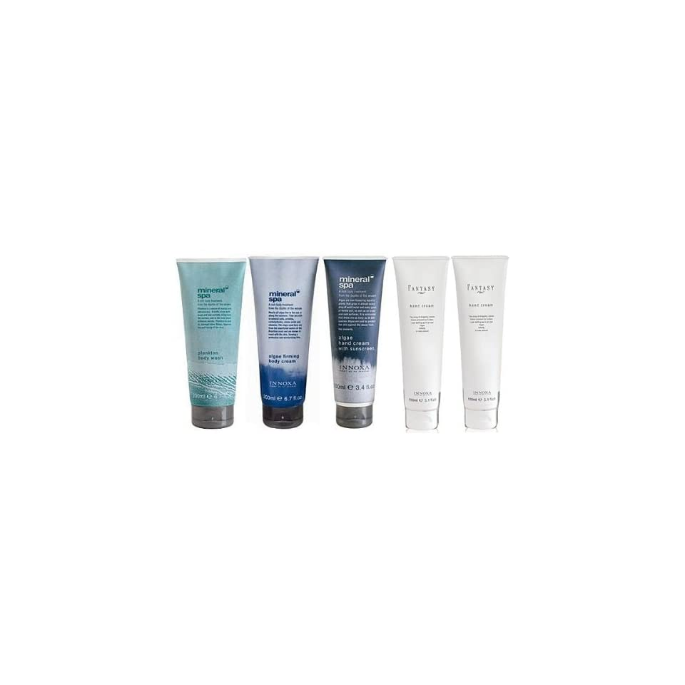 5 Piece Innoxa Mineral Spa Firming Body Cream & Body Wash & Hand Cream Set From Australia