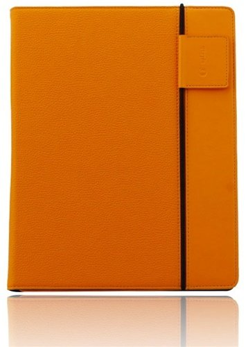 Splash SPL-IPD3-RDRP-ORNG Raindrop Leather Case iPad 2 and 3 with stylus (Orange)