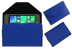 Acm Premium Pouch Case For Lava Iris Win 1 Flip Flap Cover Holder Blue