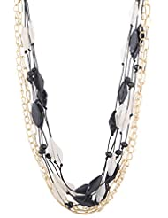 Asha Woman Black Metal Strand Necklace For Women - B013SGTF2Q