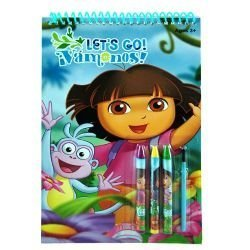 Dora Spiral Travel Activity Pad with Stickers - 1