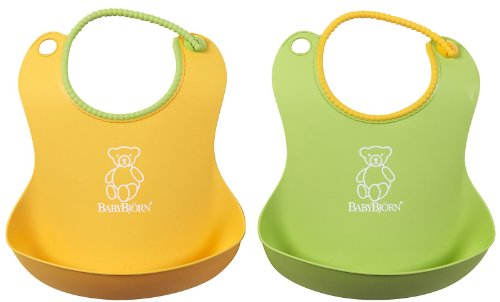BABYBJORN Soft Bib 2 Pack - Green/Yellow