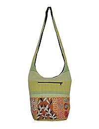 Traditional Indian Handmade Vintage Design Women's Shoulder Fashion Cotton Bags - B01DZYQVCI