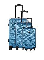 Bag Stone Set de 3 trolleys rígidos Eden (Azul)