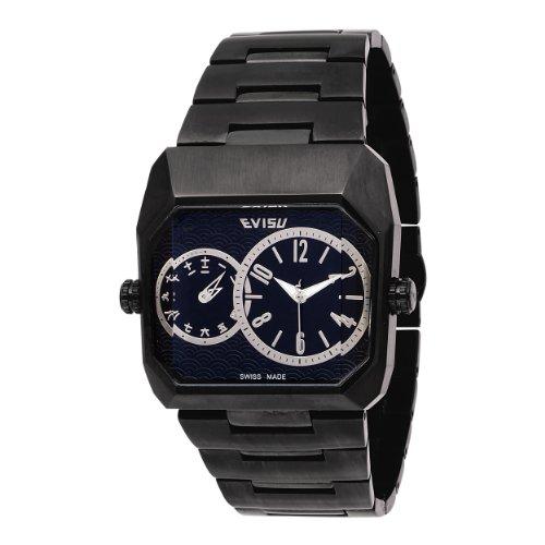 Evisu 'Masa' Gents Stainless Steel Dual Time Bracelet Watch