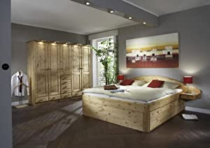 schlafzimmer komplett kleiderschrank bett magnum 1 kiefer massiv gelaugt ge lt k che. Black Bedroom Furniture Sets. Home Design Ideas