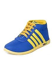 Earton Men's Blue Yellow EVA Sneakers