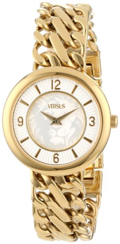 Versus by Versace Women's SGF060013 Acapulco Gold Ion-Plated Stainless Steel Chain Bracelet Watch