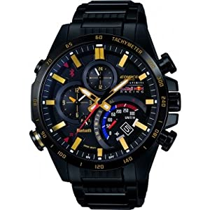 Mens Casio Premium Edifice Alarm Chronograph Watch EQB-500RBK-1AER