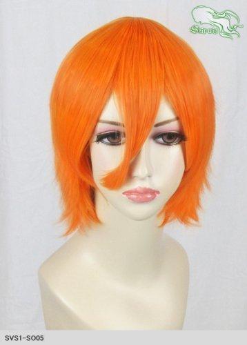 スキップウィッグ 魅せる シャープ 小顔に特化したコスプレアレンジウィッグ マニッシュショート ネオンオレンジ