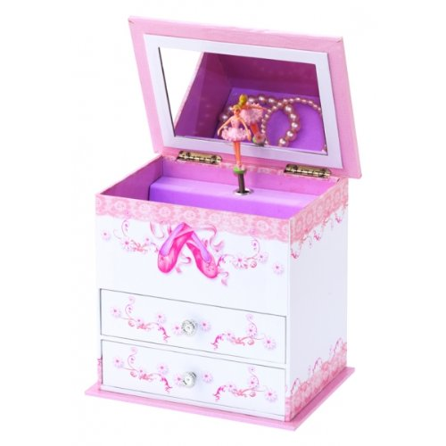 Mele & Co Ballet Shoes Girls Musical Jewellery Box