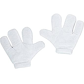 Cartoon Foam Mitts White Gloves