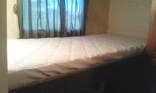 Quilted Mattress Pad Cover for A camper RV Travel Trailer