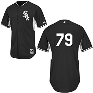 Jose Abreu Chicago White Sox Black Batting Practice Jersey by Majestic by Majestic