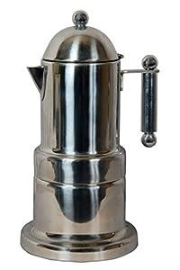 City Tea & Coffee Moka Pot Percolater 6 cup coffee maker ( silver )