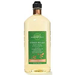 Bath & Body Works Aromatherapy Stress Relief Lemongrass Cardamom Body Wash and Foam Bath 10 Oz (295 Ml)