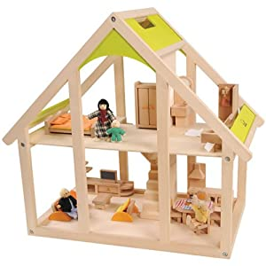 All In One Wooden Dollhouse