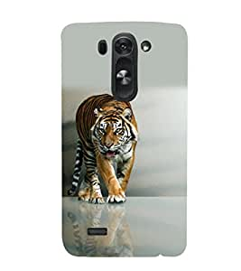 printtech Nature Tiger Back Case Cover for LG G3 Beat::LG G3 Vigor::LG G3s::LG g3s Dual