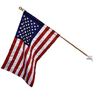 ... Flag, with 5 Foot Wooden, 2 Piece Pole #25143 : Patio, Lawn & Garden