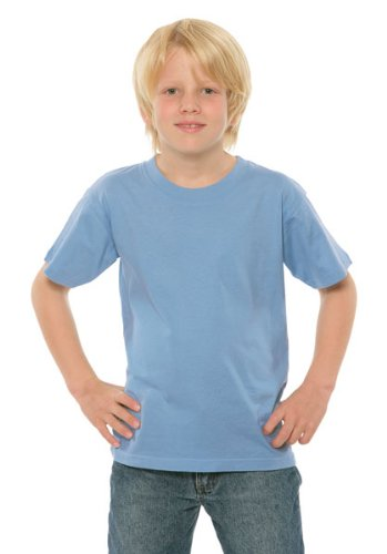 Russell Europe Kids' Lightweight T-Shirt, Sky , XXL (11-12)