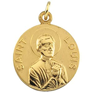 14k Yellow Gold St. Louis Medal Pendant or Charm