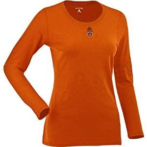 Antigua Auburn Tigers Ladies Relax Long Sleeve Tee With Bcs Championship Logo by Antigua