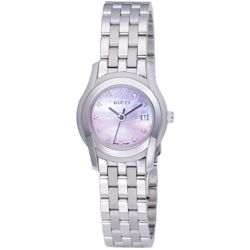 [グッチ]GUCCI 腕時計 5505L SS ピンクシェル 11Pダイヤ YA055522 レディース 【並行輸入品】