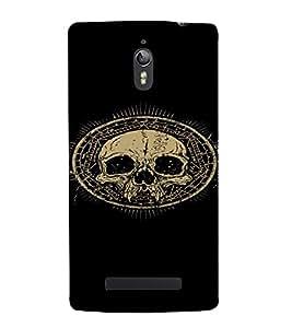 PrintVisa Cool Skull Design 3D Hard Polycarbonate Designer Back Case Cover for Oppo Find 7