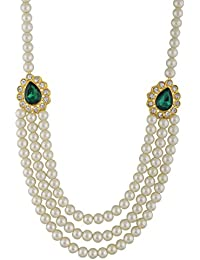 Swapna Fashion Jewelry Pearl White Pearl Beads For Women (SFJ029)