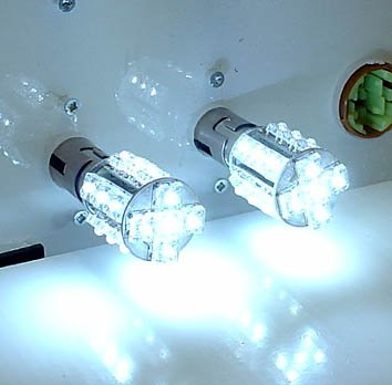 One Pair 1157 White 20 Led Light(2 Bulbs) Ba15D /12V Turn Signal Light, Corner Light, Stop Light, Parking Light, Side Marker Light, Tail Light, And Backup Lights