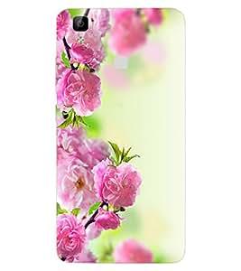 ColourCraft Beautiful Flowers Design Back Case Cover for VIVO V3 MAX