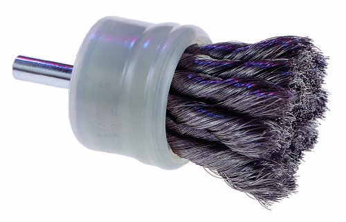 "Osborn 30026 Scuf-Gard Coated Knot Wire End Brush, Stainless Steel Bristle, 22000 RPM, 1/2"" Diameter, 2-3/4"" Length, 0.006"" Fill Diameter from Osborn International"