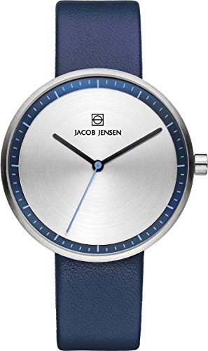 Jacob Jensen JJ Strata Ladies Blue Watch 282 - Orologio da polso, donna, pelle, colore: blu