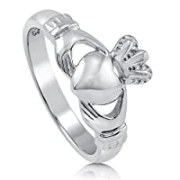 BERRICLE Sterling Silver Claddagh Crown Womens Promise Wedding Bridal Ring by BERRICLE