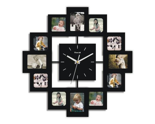 Creative Motion 12-Photo Frame and Clock (Clock Frame compare prices)