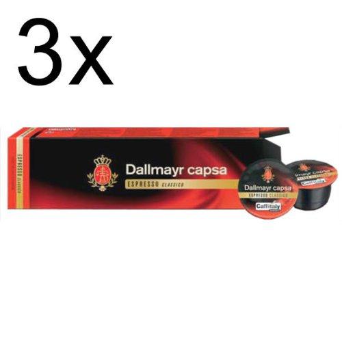 Dallmayr capsa Espresso Classico, Pack of 3, 3 x 10 Capsules