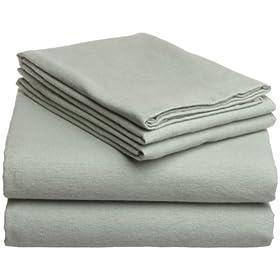 Pike Street Solid 135-Gram Flannel Sheet Sets