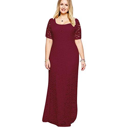 Long Lace Dress Big Size Women Elegant Cocktail Dresses Bodycon Maxi Evening Dress (18