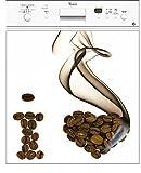 Electromenager Best Deals - Stickersnews - Sticker lave vaisselle électroménager déco cuisine I Love Café 60x60cm réf 183