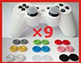 NEW 9 Pairs X Thumbstick Stick Grip Case for XBOX 360 PS2 PS3 Controller Gampad Joystick--9 Colors Wholesale Pack