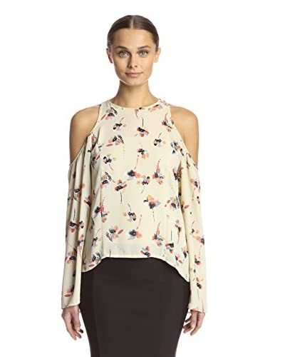 Lucca Couture Women's Cold Shoulder Flare Top