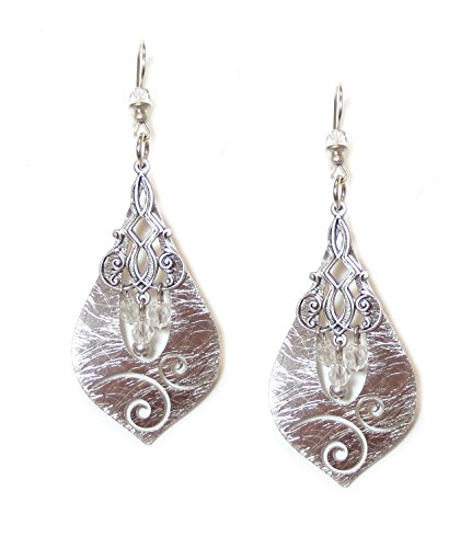 john-michael-richardson-silver-plated-filigree-layered-oblong-earrings