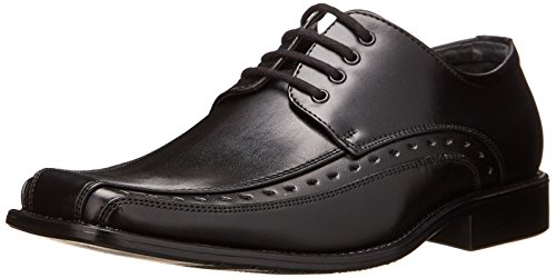 Stacy Adams Demill Bicycle Toe Lace-up Dress Shoe Uniform Oxford (Little Kid/Big Kid),Black,3 M US Little Kid
