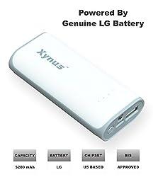 XYNUS RM-5200 mAh Power Bank With Genuine LG Battery (White-Grey)
