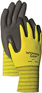 Wonder Grip WG310M Rubber Gloves, Spring Green, Medium