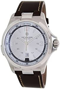 Victorinox Mens 241570 Night Vision Analog Display Swiss Quartz Brown Watch by Victorinox