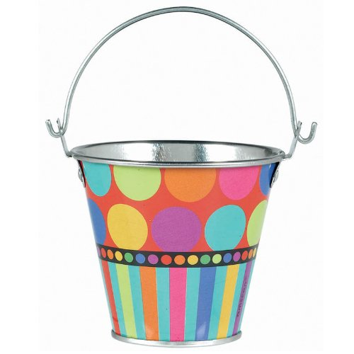 Dots and Stripes Metal Pail - 1