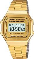 Casio Retro Gold-Ton Unisex Uhr Alarm Chrono Leuchtdichte Digitale A168WG-9WDF