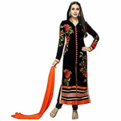 Shree Ganesh Women's Georgette Unstitched Dress Materials [D72]
