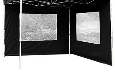 2 Seitenteile PROFI Falt Pavillon Faltpavillon schwarz von Nexos Trading - Gartenmöbel von Du und Dein Garten